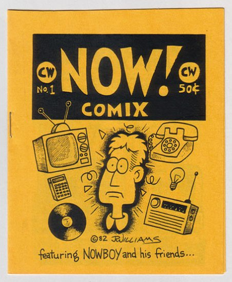 NOW COMIX #1 minicomix J.R. WILLIAMS Comix World 1982