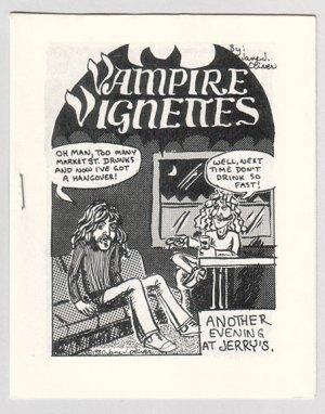 VAMPIRE VIGNETTES #1 mini-comic JANE J. OLIVER 1980