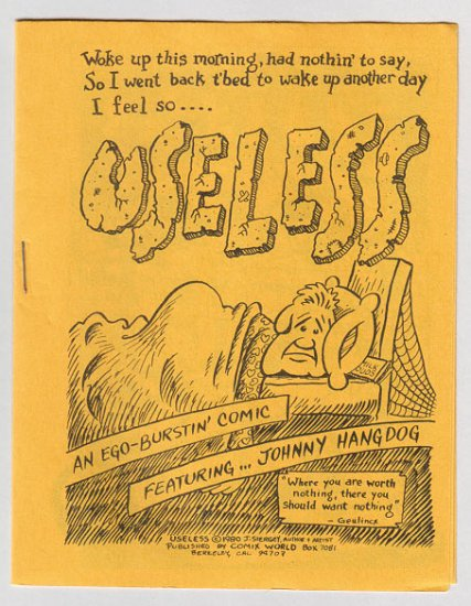 USELESS mini-comic JIM SIERGEY 1980 Comix World