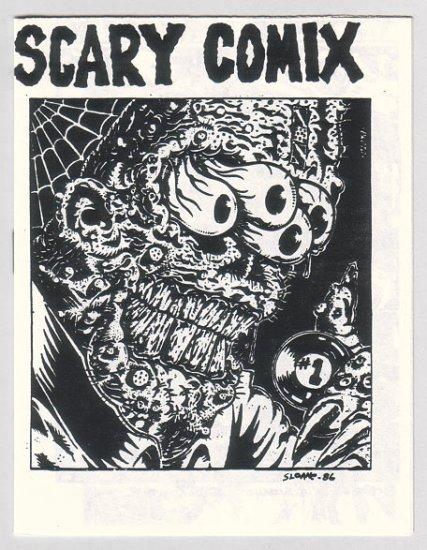SCARY COMIX mini-comic R.K. SLOANE Ric Sloane 1986