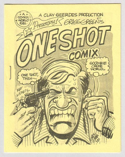 ONE SHOT COMIX mini-comic GRASS GREEN 1980 Comix World