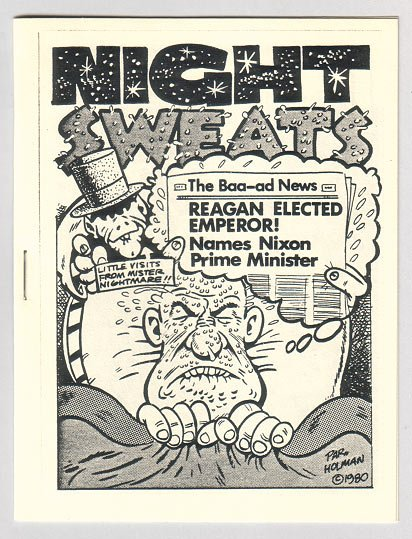 NIGHT SWEATS mini-comix BRAD FOSTER Par Holman STEVE FIORILLA 1982