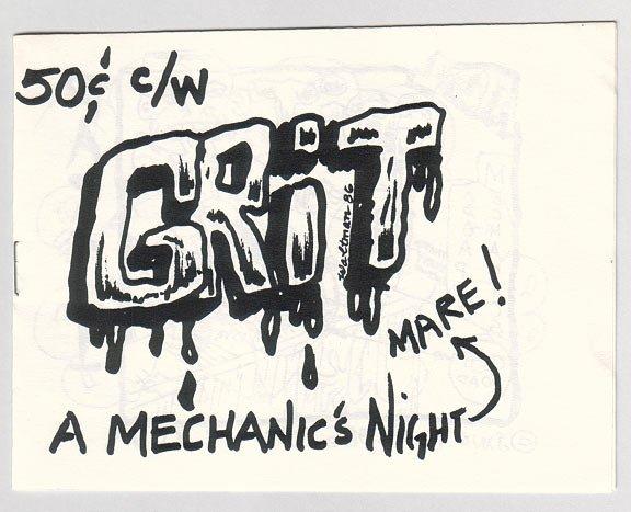 GRIT mini-comic JAMES WALTMAN underground Comix Wave 1986