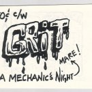 GRIT mini-comic JAMES WALTMAN underground Comix Wave 1986