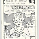 FRIED BRAINS #27 mini-comic DAN W. TAYLOR underground comix minicomic 1989