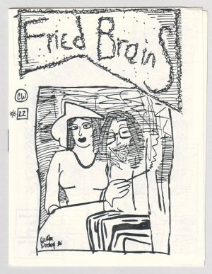 FRIED BRAINS #22 mini-comic WILLIAM DOCKERY 1986