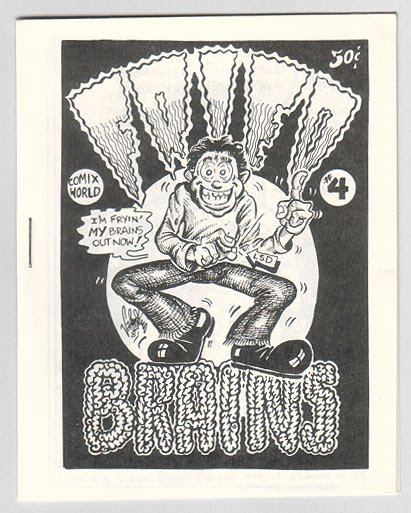 FRIED BRAINS #4 mini-comic JIM VALENTINO Tom Brinkmann JOHN HOWARD 1981
