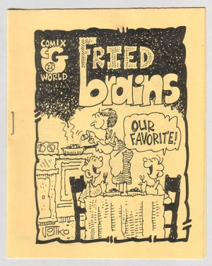 FRIED BRAINS #3 mini-comic BOB VOJTKO Roldo PETE SILVIA 1980
