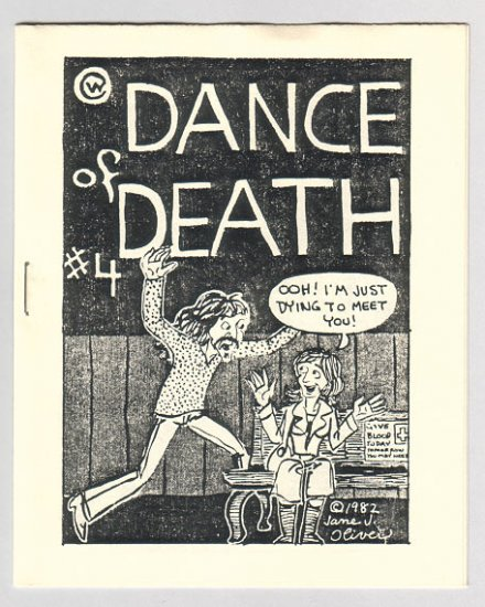 DANCE OF DEATH #4 mini-comix JANE J. OLIVER Jim Ryan CLIFF NEAL