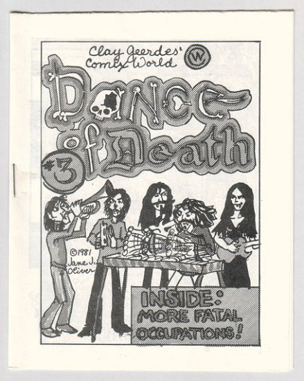 DANCE OF DEATH #3 mini-comic JANE J. OLIVER 1982