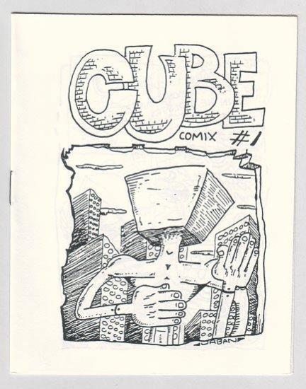 CUBE COMIX #1 mini-comic MIKE URBAN 1980s Comix Wave