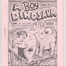 A BOY AND HIS DINOSAUR mini-comic PETE SILVIA 1980 Comix World