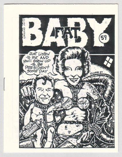 BABYFAT #59 mini-comic R.K. SLOANE Ace Backwords PAR HOLMAN 1987