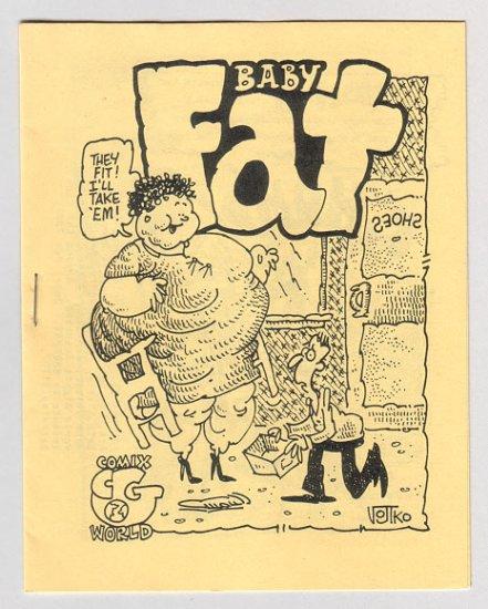 BABYFAT #13 mini-comix BOB VOJTKO Pet Silvia DAVID MILLER 1980