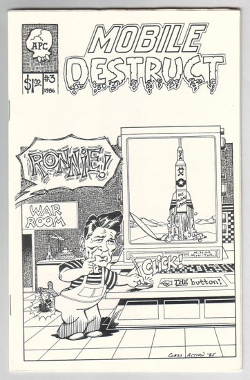 MOBILE DESTRUCT #3 mini-comic STEVE WILLIS Jeff Gaither BILL FITTS Jeff Nicholson 1986