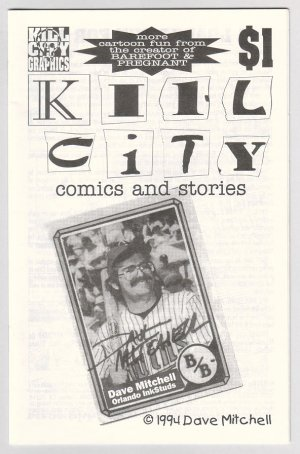 KILL CITY #1 mini-comix DAVE MITCHELL 1994