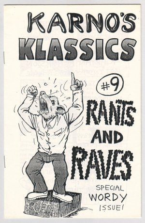 KARNO'S KLASSICS #9 mini-comix KJARTAN ARNORSSON 1988