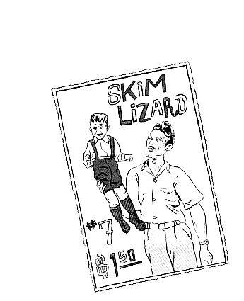 SKIM LIZARD #7 mini-comic JEFF LEVINE Gabrielle Gamboa 1994