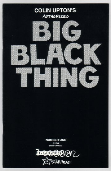 BIG BLACK THING #1 comix COLIN UPTON 1994