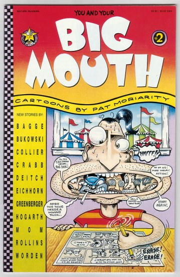 BIG MOUTH #2 comix PAT MORIARITY Charles Bukowski PETER BAGGE Henry Rollins 1993