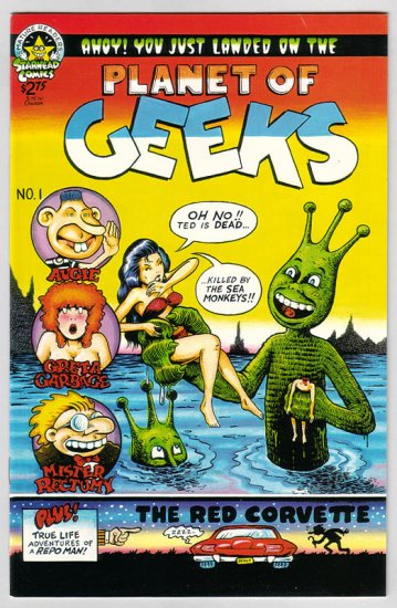 PLANET OF THE GEEKS #1 underground comix R.L. CRABB 1994