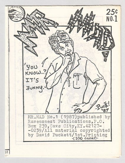 MR. MAD #1 mini-comic DAVID PUCKETT signed 1987
