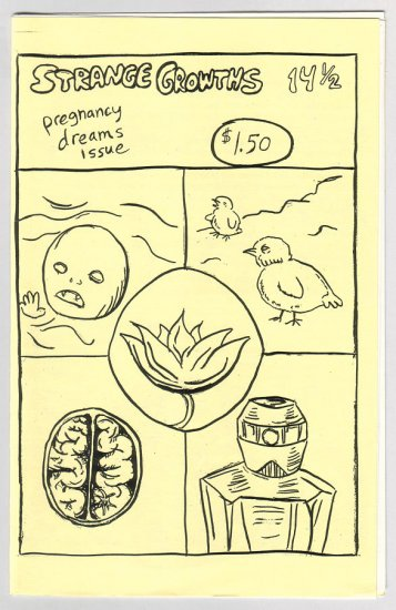 STRANGE GROWTHS #14 1/2 mini-comic JENNY ZERVAKIS