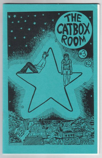 THE CATBOX ROOM #3 mini-comic LISA MASLOWE 1995