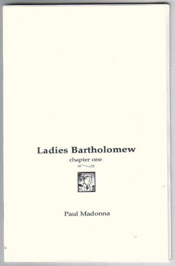 LADIES BARTHOLOMEW #1 mini-comic PAUL MADONNA rare 2003