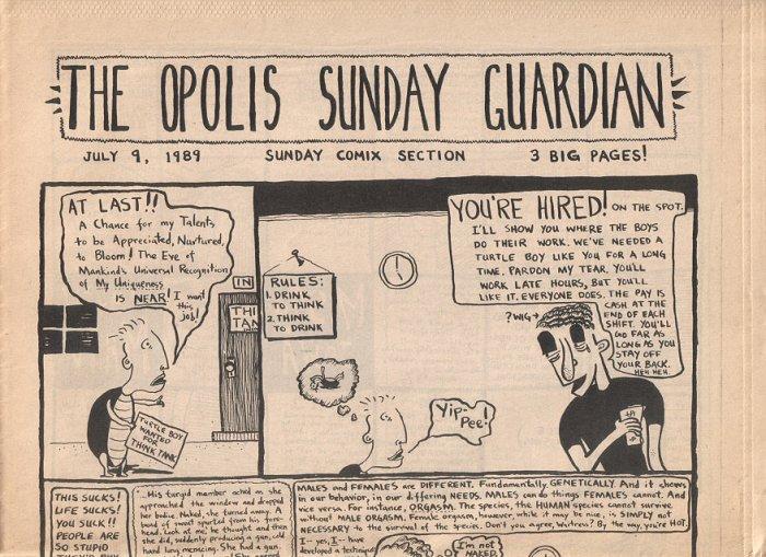 THE OPOLIS SUNDAY GUARDIAN comix tabloid CHRIS BENEKE Patrick Lafferty 1989