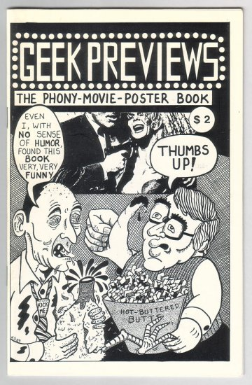 GEEK PREVIEWS mini-comix R.K. SLOANE Roy Tompkins JEFF GAITHER Glenn Head 1990
