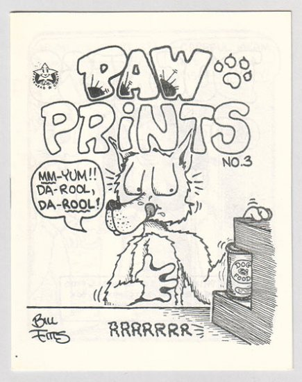 PAW PRINTS #3 mini-comix BILL FITTS Starhead 1987