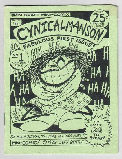 CYNICALMANSON #1 mini-comic Cynicalman parody Skin Graft 1988