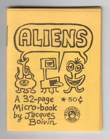 ALIENS mini-comix JACQUES BOIVIN Phantasy Press 1983