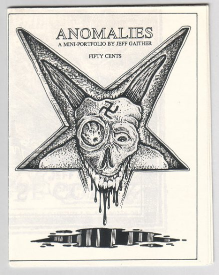 ANOMALIES mini comix art portfolio JEFF GAITHER 1988