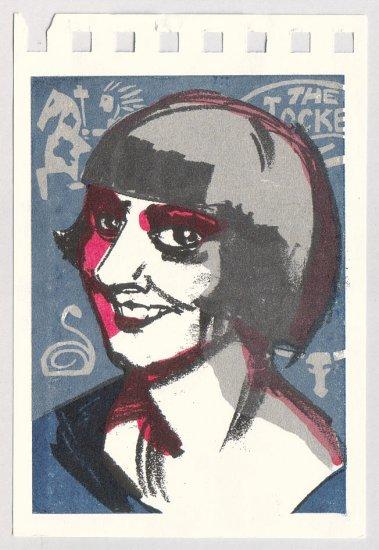 ALICE KIKI PRIN silkscreen Gocco print by Sean Bieri