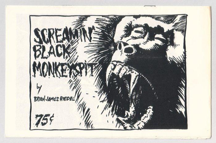 SCREAMIN' BLACK MONKEYSPIT mini-comic BRIAN JAMES RIEDEL 1985