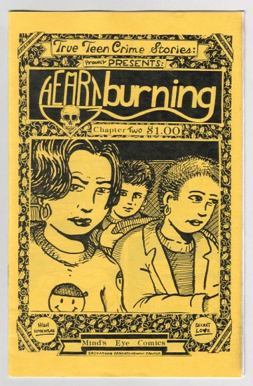 HEARTBURNING #2 mini-comic ROBIN BOUGIE true crime 1995