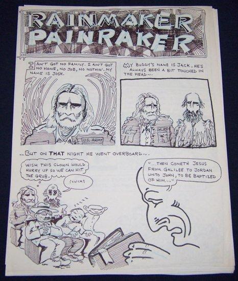 original art STEVE WILLIS Rainmaker Painraker from STORM WARNINGS 1990