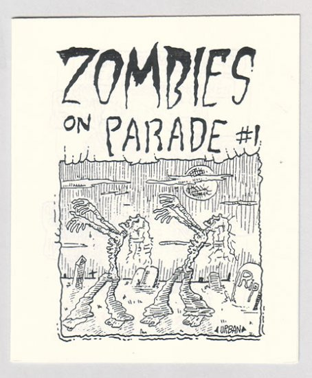 ZOMBIES ON PARADE mini-comix MIKE URBAN 1980s