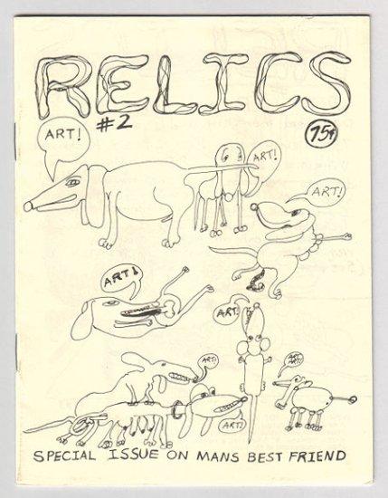 RELICS #2 mini-comix BOB LEWIS art brut dogs 1983