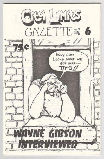 CITY LIMITS GAZETTE #6 underground comix WAYNE GIBSON Michael Roden 1983