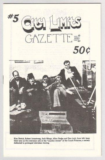 CITY LIMITS GAZETTE #5 underground comix BRUCE CHRISLIP Bruce Sweeney 1982