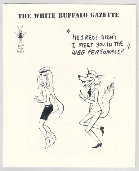 WHITE BUFFALO GAZETTE mini-comix EDWARD BOLMAN Andy Nukes 1996