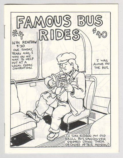 FAMOUS BUS RIDES #4 Canadian mini-comix COLIN UPTON 1980s
