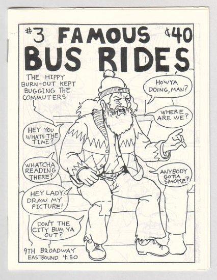 FAMOUS BUS RIDES #3 Canadian mini-comix COLIN UPTON 1980s