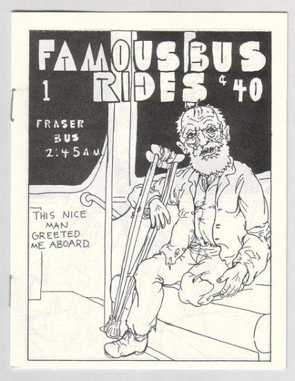 FAMOUS BUS RIDES #1 Canadian mini-comix COLIN UPTON 1980s