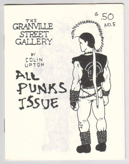 GRANVILLE STREET GALLERY #5 Canadian mini-comix COLIN UPTON punks 1980s