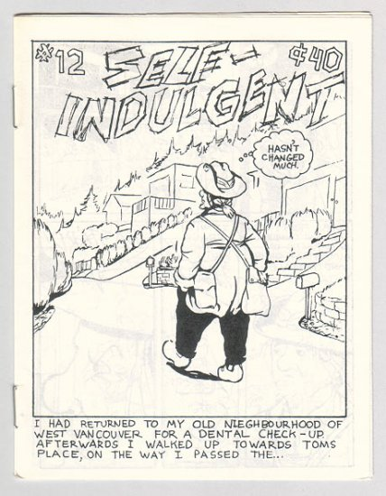 SELF-INDULGENT COMICS #12 Canadian mini-comix COLIN UPTON 1980s