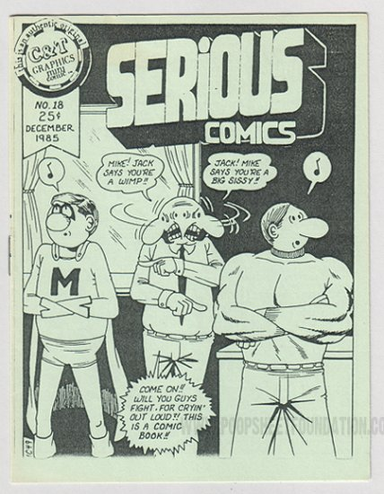 SERIOUS COMICS #18 mini-comic TIM CORRIGAN 1985